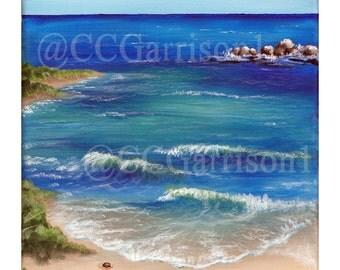 Art Print Beach giclee 8x10