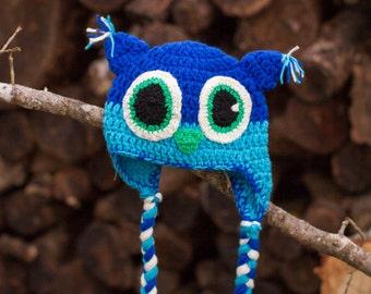 Baby Owl Hat, Crochet Baby Owl Hat, Baby Photo Prop