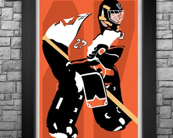 RON HEXTALL minimalism style limited edition art print. Choose from 3 sizes!