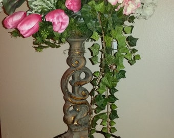 rose candle stick holder