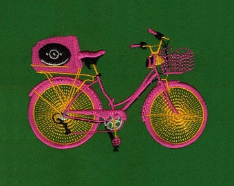 Pretty in Pink Bicycle Digital Embroidery Design
