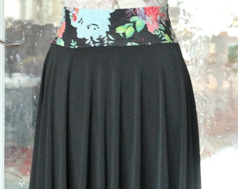 Black Circle Skirt- Knee Length