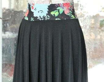Black Circle Skirt- Knee Length