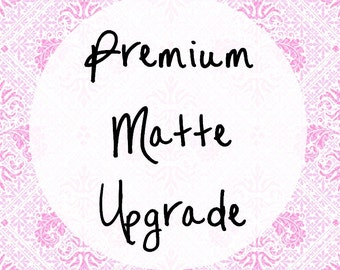 Premium Matte Upgrade / Planner Stickers / Erin Condren / Happy Planner