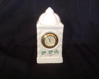 Belleck Parian China Desk Clock