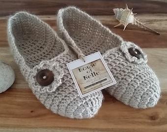 Women's Lightweight Crochet Ballet Slippers. Crochet Socks.