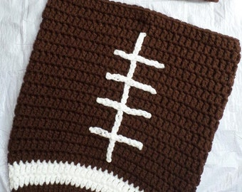 Crochet Newborn Football Cocoon and Hat
