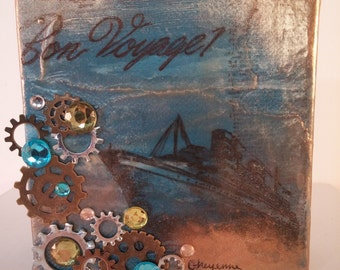 Mixed Media Canvas-ocean liner