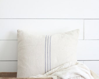 Farmhouse Style Grain Sack Pillow Cover