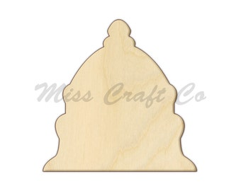 Capitol Dome Wood Craft Shape, Unfinished Wood, DIY Project. All Sizes Available, Small to Big