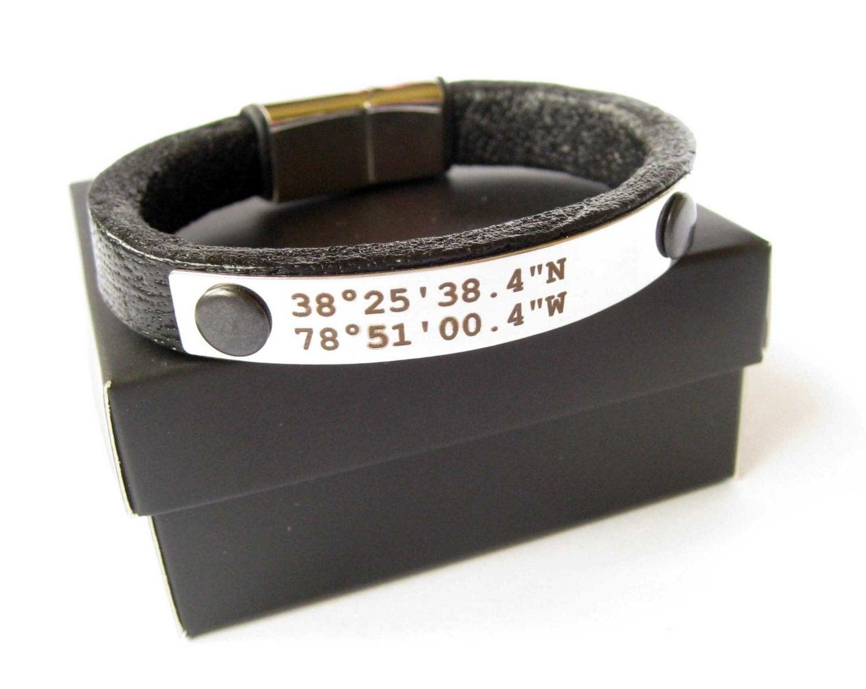 custom coordinates bracelet latitude longitude bracelet