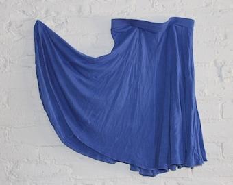 High Waisted Cobalt Skirt (with elastic band for comfortable eating!)