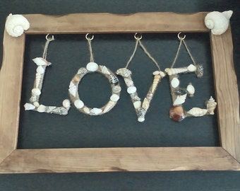 Shell wall hanging