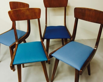 four modern chairs 'wave'