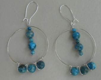 Large Hoops Silver in Color