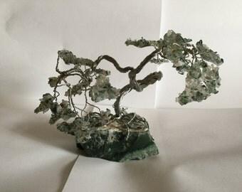 Moss Agate Bonsai Tree