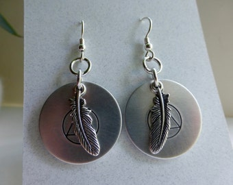 jewelry, earrings, sterling silver,recovery earrings, recovery gift, aa recovery, AA, sober gift, sobriety, AA gift, 12 step gift,