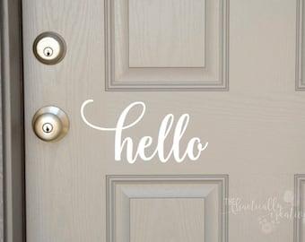 Hello Door Decal, Hello Front Door Decal, Hello Front Door Sticker, Hello Vinyl Decal, Hello Vinyl Sticker Hello Sticker, Hello Decal