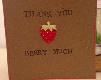 Thank you strawberry card