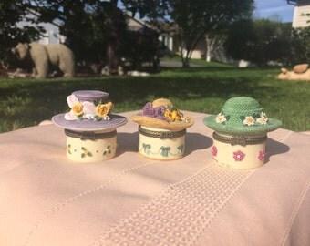 Hat Trinket Boxes - Set of 3