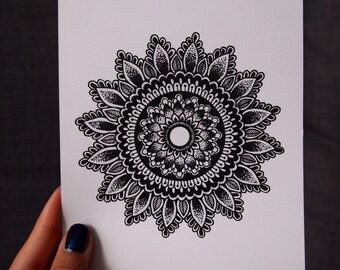 5x7 Sunflower Mandala