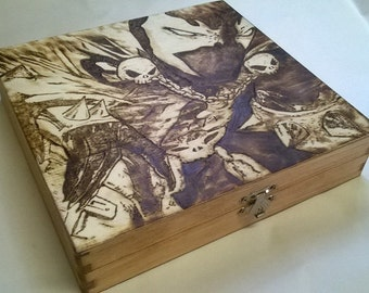 Spawn Woodburned Box with Tea