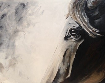 Original Acrylic Horse Painting