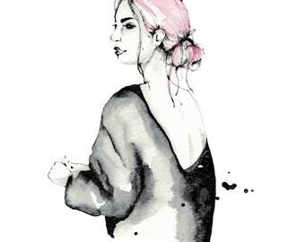 Pastel Pink, A4 print, 21cm x 29.5cm, unframed