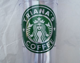 Authentic Starbucks Venti Size 24 oz Clear Cold Tumbler Personalized with name and color you now can choose Seasonal Grande or Clear Grande