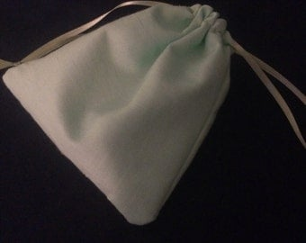 Mint green drawstring gift bag
