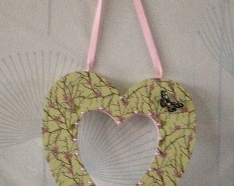 Hand Crafted Decopatch Heart