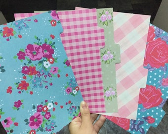 Floral A5 Dividers