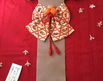 Kazari-obi, Japanese Kimono Fabric wall Display