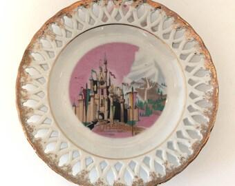 Large Vintage Disneyland Plate