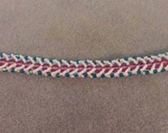 Flat spiral stitch bracelets