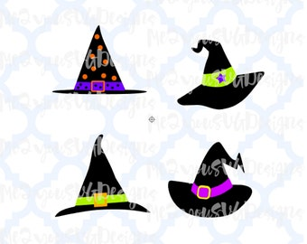 Witch Hat Collection SVG,EPS,PNG,Studio