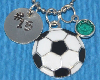 Soccer Necklace | Soccer Gifts | Gift for Soccer Player | Soccer Gift for Girl | Soccer Charm Necklace | Soccer Jewelry | Soccer mom |
