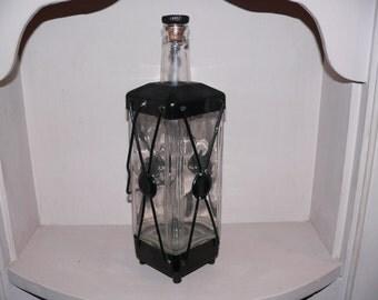Vintage Whiskey Bottle Music Box