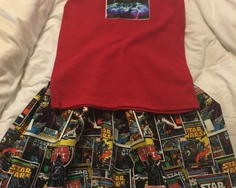 Star Wars Girls Skirt & Tank Set  All Sizes All Colts Ships in 3-4 Days