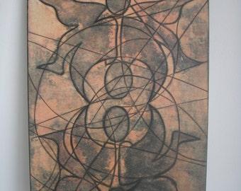 The Acrobats, 14''x20''(35x50cm), Original painting