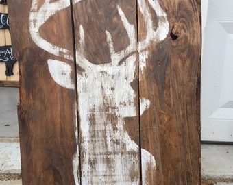 Deer Silhouette on Barnwood