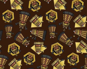 """Bbc Doctor Who Exterminate 100% cotton 44"""" fabric by the yard,d103"""