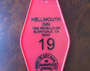 BUFFY THE VAMPIRE slayer inspired Hellmouth Inn Keytag - Free Shipping
