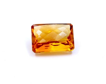 Dignity 20 Ct & Up Citrine Emerald Cut Loose Stone