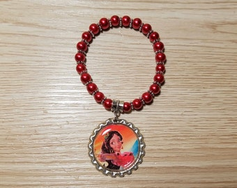 10 - Red Bracelets Party Favors. Elena of Avalor, Snow white