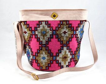 Luxury Mochila Wayuu Bag- 100% Original and Handmade -London Cream