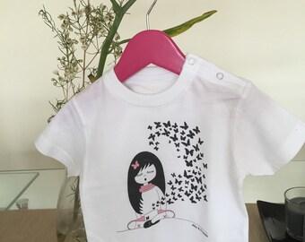T-shirt baby butterflies BBY