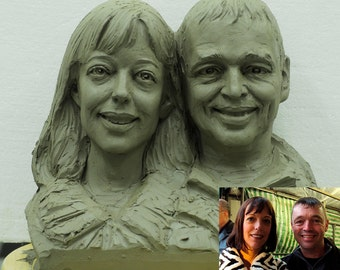 Custom double heads sculpture (Small size)