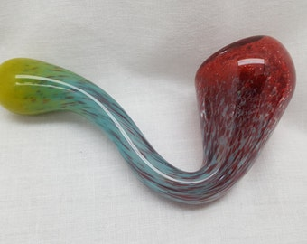 Colorful Glass Sherlock Pipe