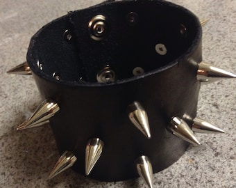 Spiked Leather Wristband
